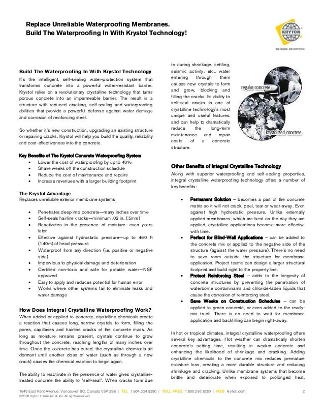 Waterproofing Membranes Replace Unreliable Concrete Waterproofing Membranes  Build The WaterExterior Waterproofing Membrane Cost Exterior ...