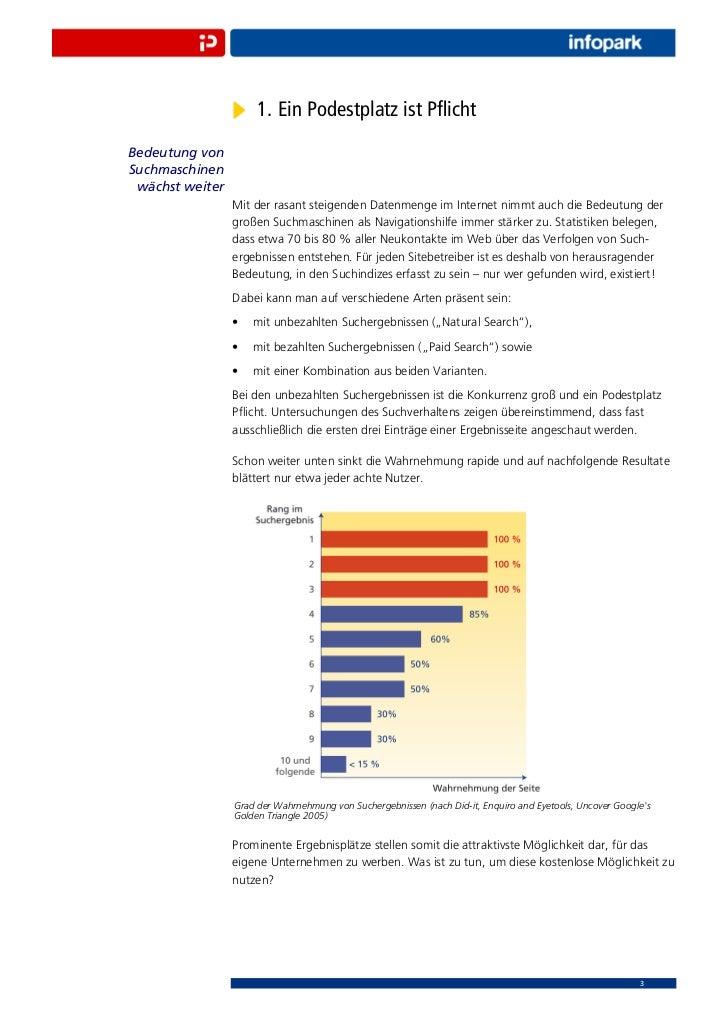 1. Ein Podestplatz ist PflichtBedeutung vonSuchmaschinen wächst weiter                 Mit der rasant steigenden Datenmenge...