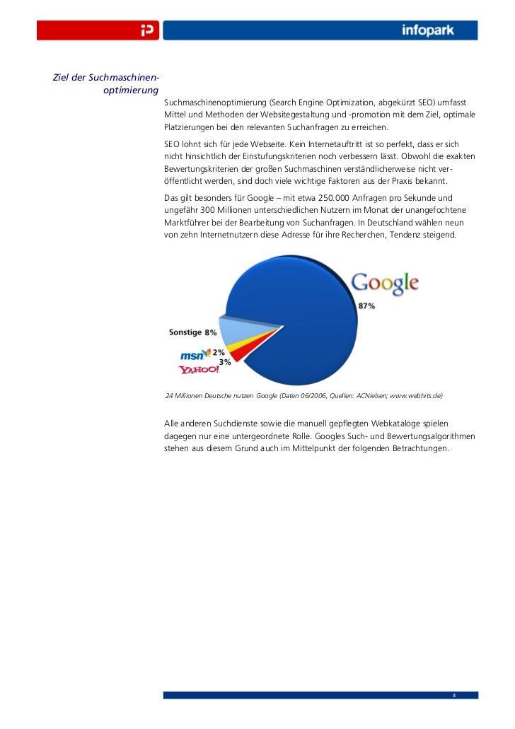 Ziel der Suchmaschinen-            optimierung                          Suchmaschinenoptimierung (Search Engine Optimizati...