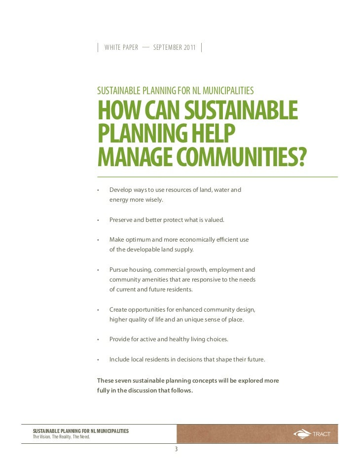 we need a sustainable community essay The fact that a consensus on the sustainable  how can the development goals be achieved  we need new.