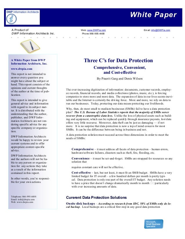 White Paper A White Paper from DWP Information Architects, Inc. www.dwpia.com This report is not intended to answer every ...