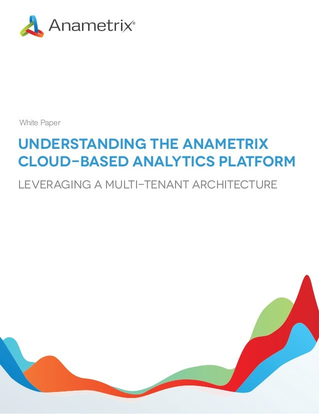 White Paper  Understanding the Anametrix Cloud-based Analytics Platform Leveraging a Multi-Tenant Architecture