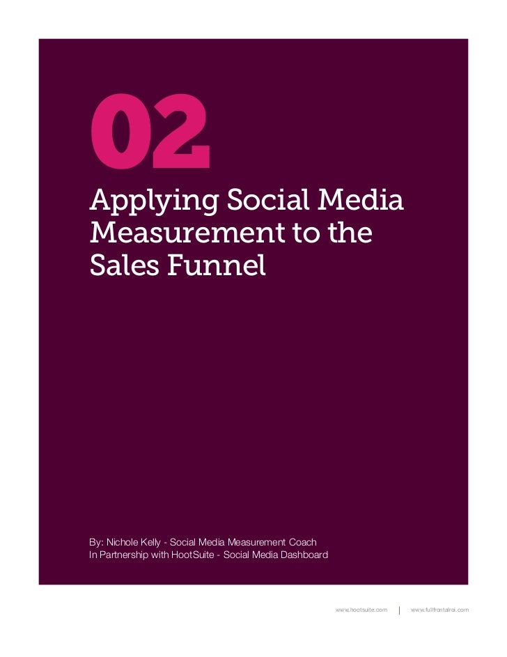 02Applying Social MediaMeasurement to theSales FunnelBy: Nichole Kelly - Social Media Measurement CoachIn Partnership with...