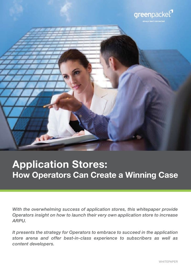 Application Stores: How Operators Can Create a Winning Case   With the overwhelming success of application stores, this wh...