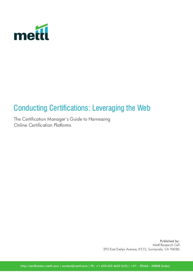 Mettl Whitepaper Conducting Certications Leveraging The Web The