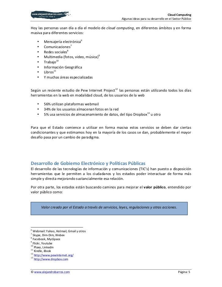 White paper Cloud Computing - Sector Público