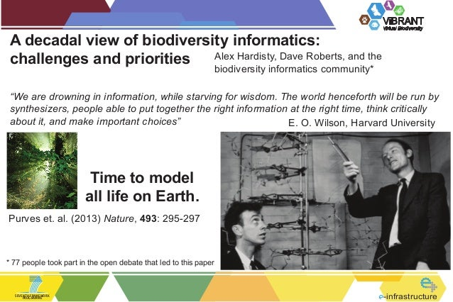 ViBRANT  A decadal view of biodiversity informatics: Alex Hardisty, Dave Roberts, and the challenges and priorities  Virtu...