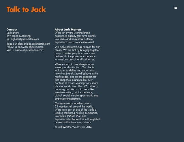Talk to Jack Contact Melinda Lindland SVP New Business and Group Account Director melinda_lindland@jackmorton.com Read our...