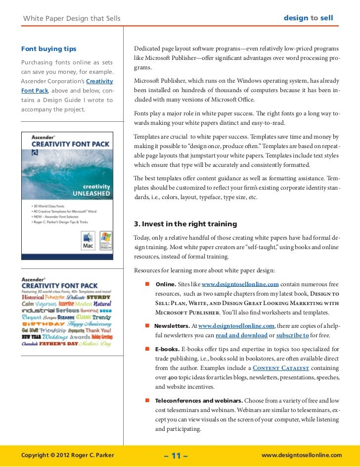 White Paper Design Tips that Sell – Microsoft White Paper Template