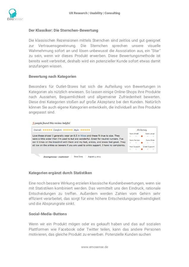 UX Research | Usability | Consulting    www.emosense.de Der Klassiker: Die Sternchen-Bewertung Die klassischen Rezension...