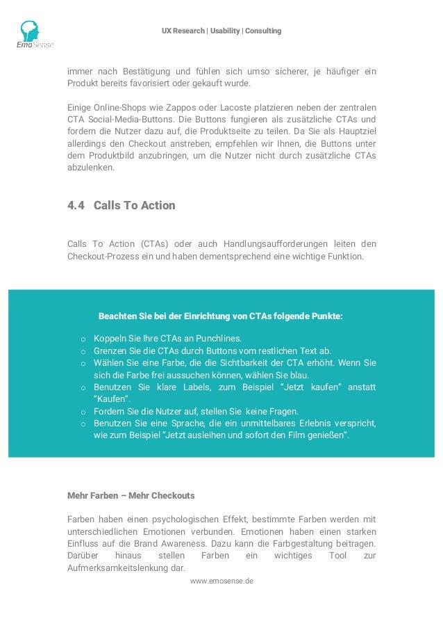 UX Research | Usability | Consulting    www.emosense.de immer nach Bestätigung und fühlen sich umso sicherer, je häufige...