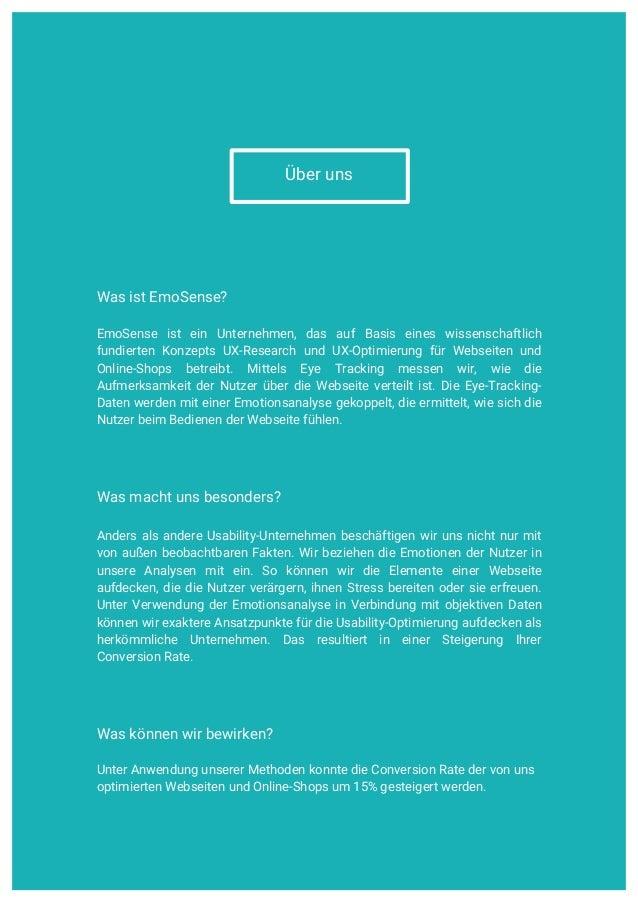 UX Research | Usability | Consulting    www.emosense.de Über uns Was ist EmoSense? EmoSense ist ein Unternehmen, das auf...