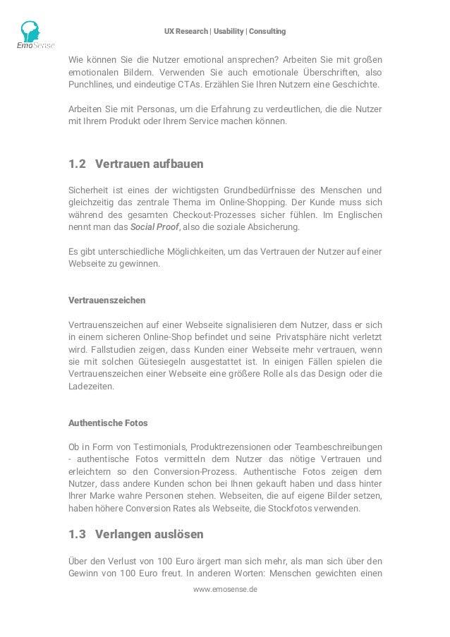 UX Research | Usability | Consulting    www.emosense.de Wie können Sie die Nutzer emotional ansprechen? Arbeiten Sie mit...
