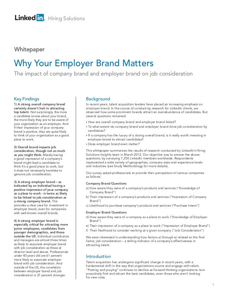 Hiring SolutionsWhitepaperWhy Your Employer Brand MattersThe impact of company brand and employer brand on job considerati...