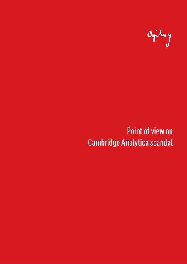 Pointofviewon CambridgeAnalyticascandal