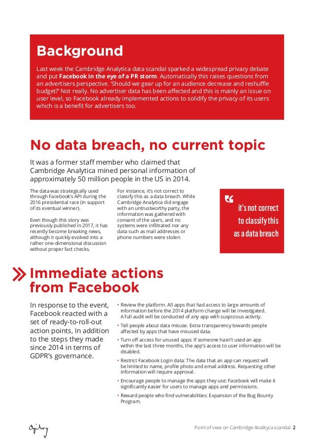 Point of View on Cambridge Analytica Scandal  Slide 2