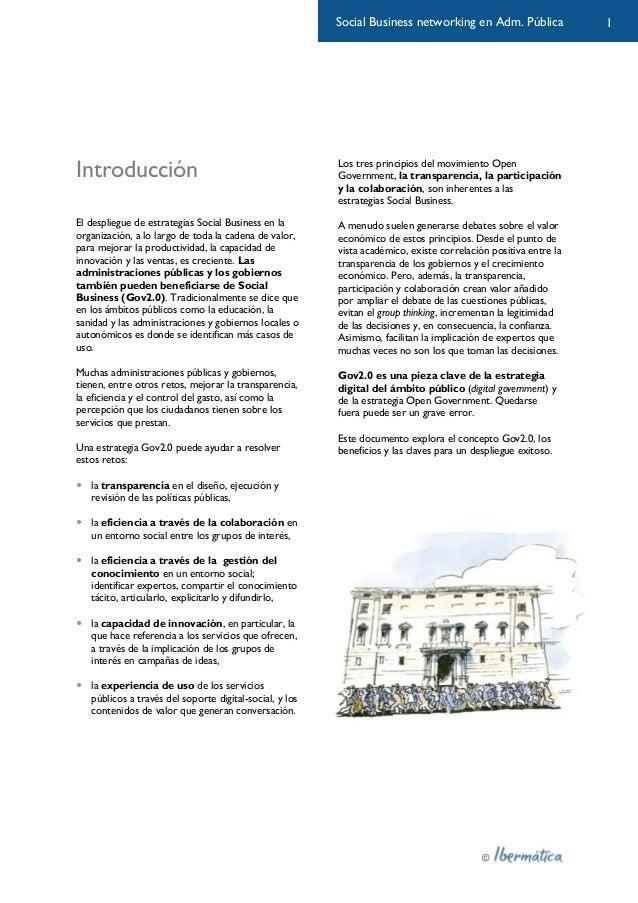 Gobierno conectado: social business en la administración pública Slide 3