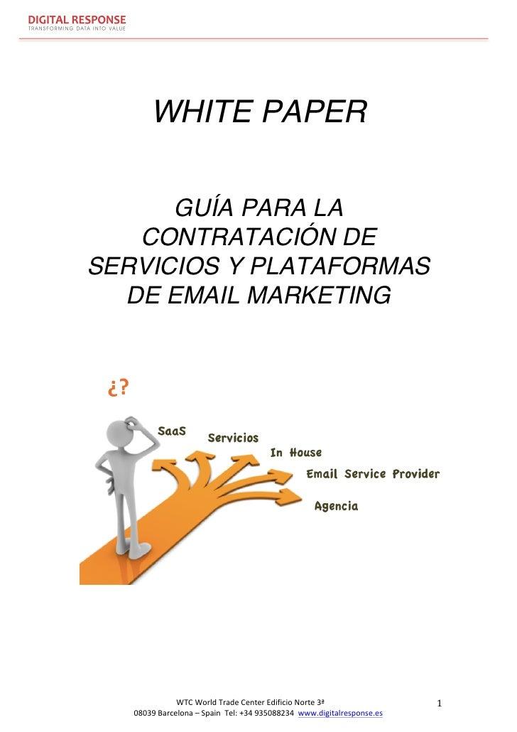 WHITE PAPER             GUÍA PARA LA          CONTRATACIÓN DE       SERVICIOS Y PLATAFORMAS        ...