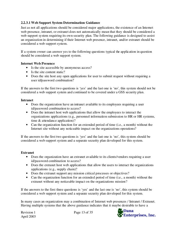 White Paper Guide For Developing Security Plans – Site Security Plan Template