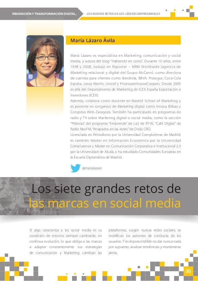 36 INNOVACIÓN Y TRANSFORMACIÓN DIGITAL, LOS NUEVOS RETOS DE LOS LÍDERES EMPRESARIALESINNOVACIÓN Y TRANSFORMACIÓN DIGITAL, ...