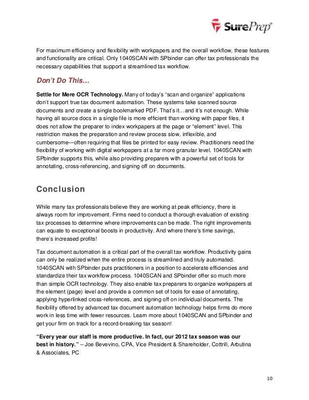 Sureprep dos donts of digital tax document automation for Tax document automation software