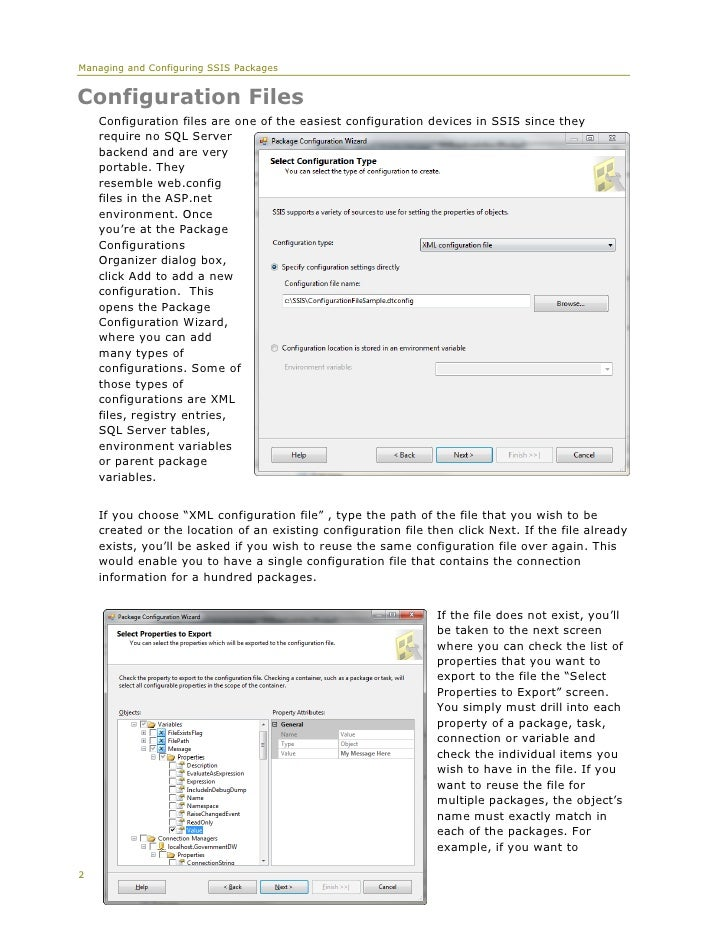 Whitepaper Managing & Configuring SSIS Packages