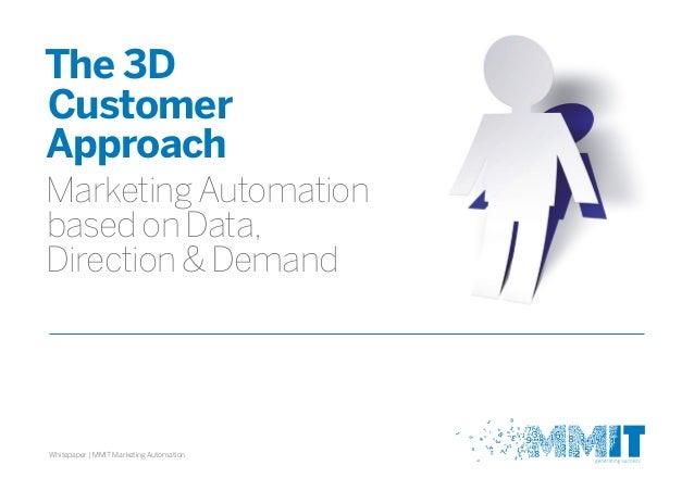 The 3D Customer Approach MarketingAutomation basedonData, Direction&Demand Whitepaper | MMIT Marketing Automation