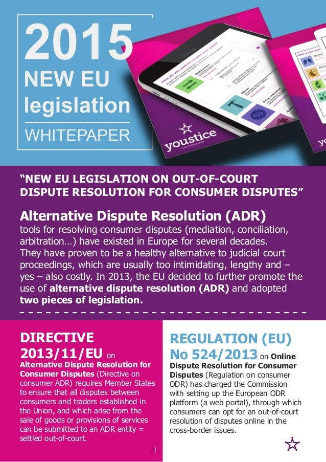 REGULATION (EU) No 524/2013 on Online Dispute Resolution for Consumer Disputes (Regulation on consumer ODR) has charged th...