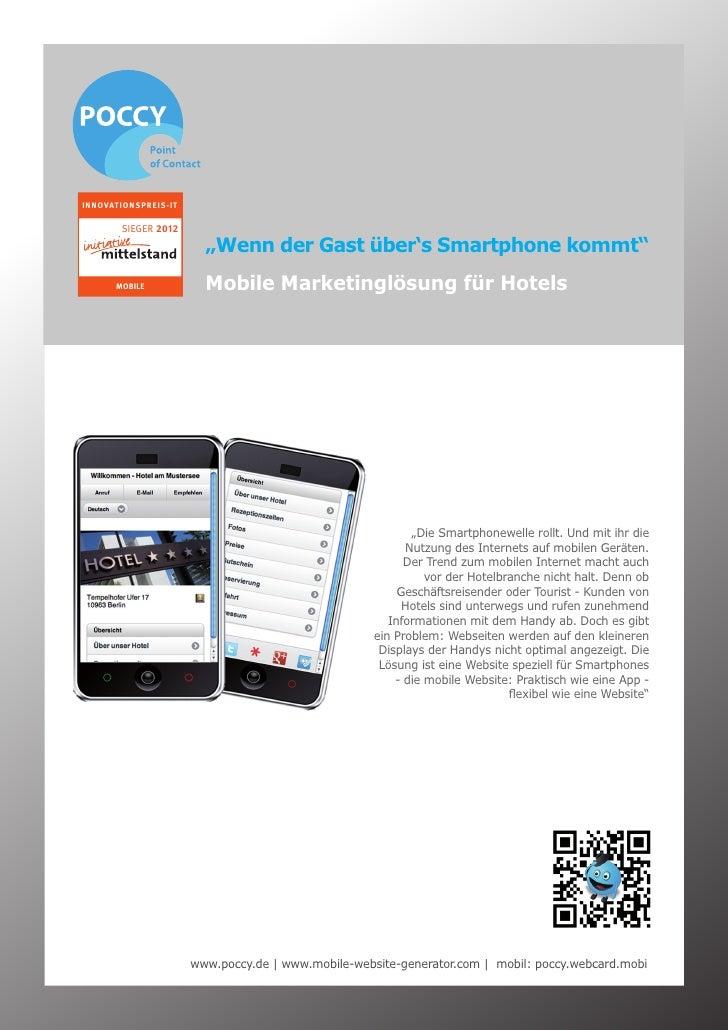 "INNOVATIONSPREIS-IT       SIEGER 2012                        ""Wenn der Gast über's Smartphone kommt""      MOBILE          ..."