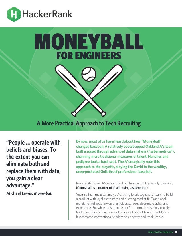 Moneyball for Engineers