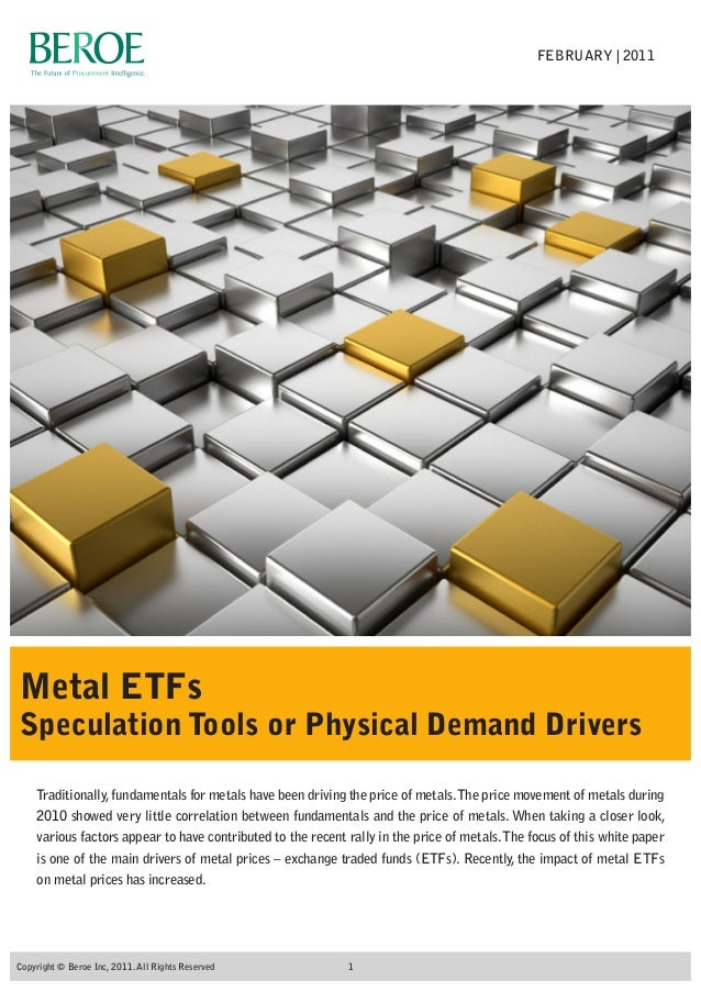 Traditionally,fundamentals for metals have been driving the price of metals.The price movement of metals during 2010 showe...