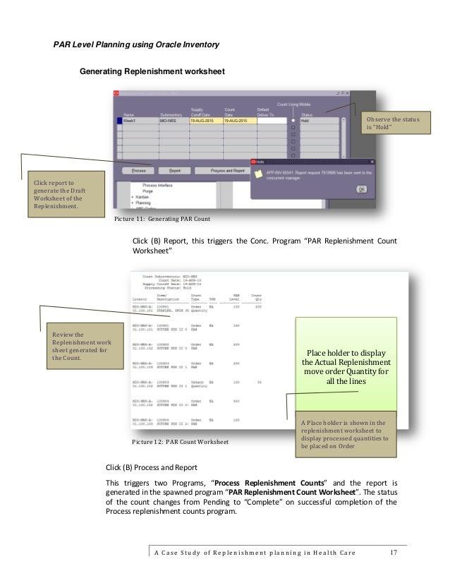 White paper on par level planning ver 2.0