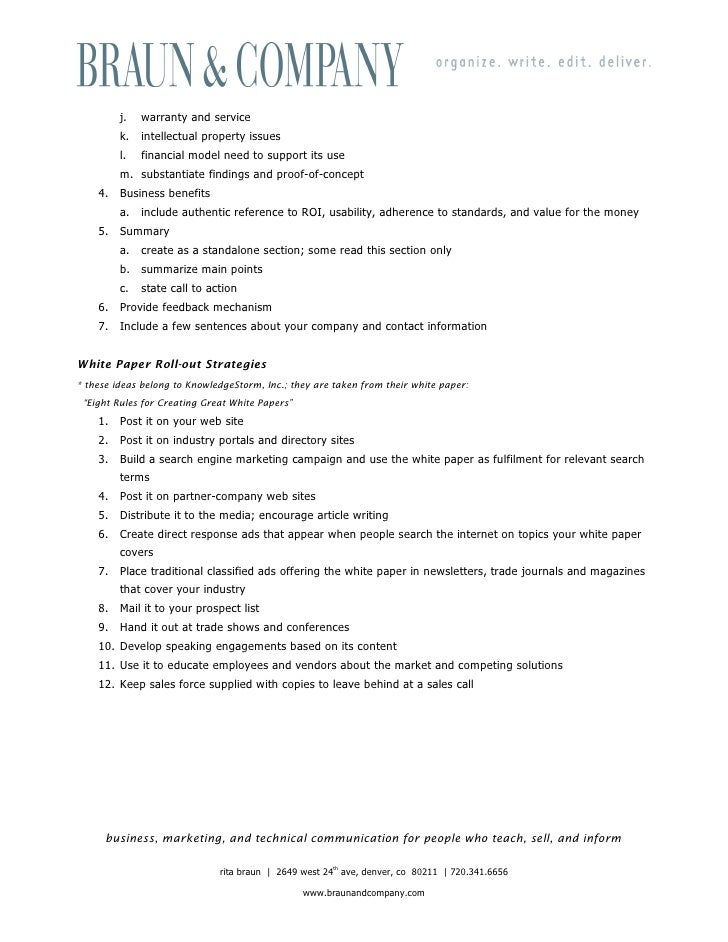 White paper outline accmission