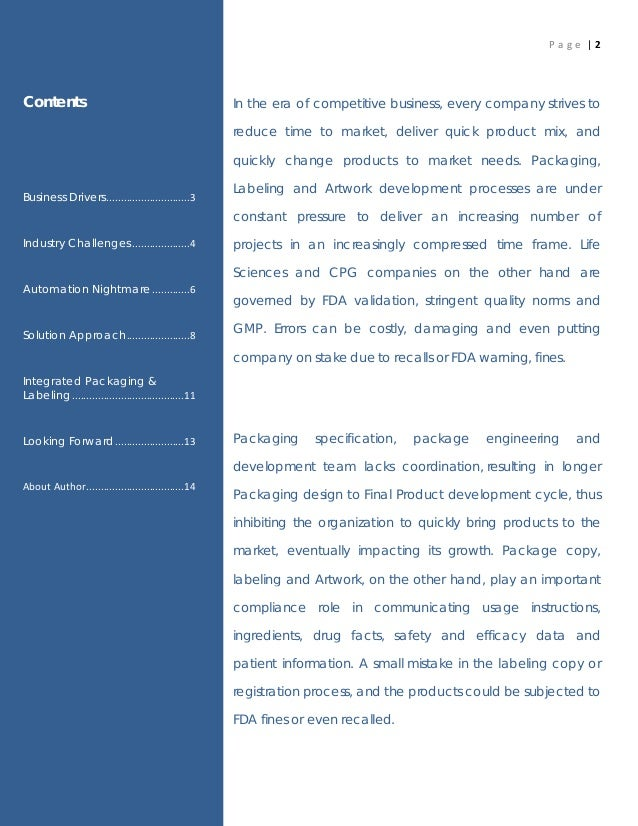 White paper on mep gmp subcontracts