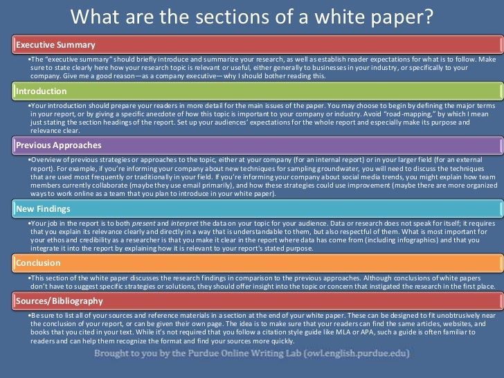 White Papers: The Genre and Its Expectations
