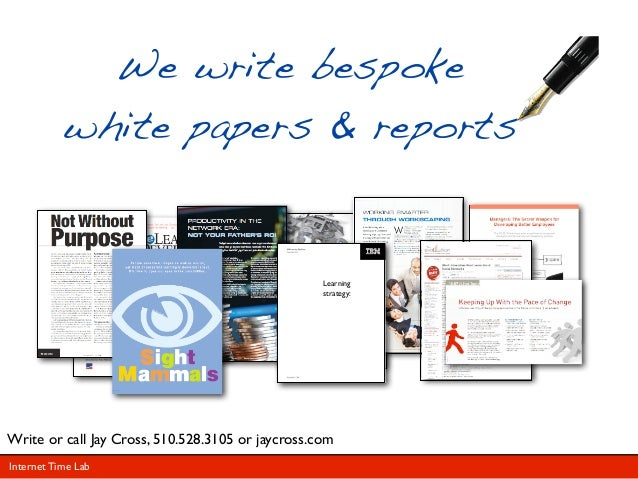 We write bespoke           white papers & reports                                       Why Corporate Training is         ...