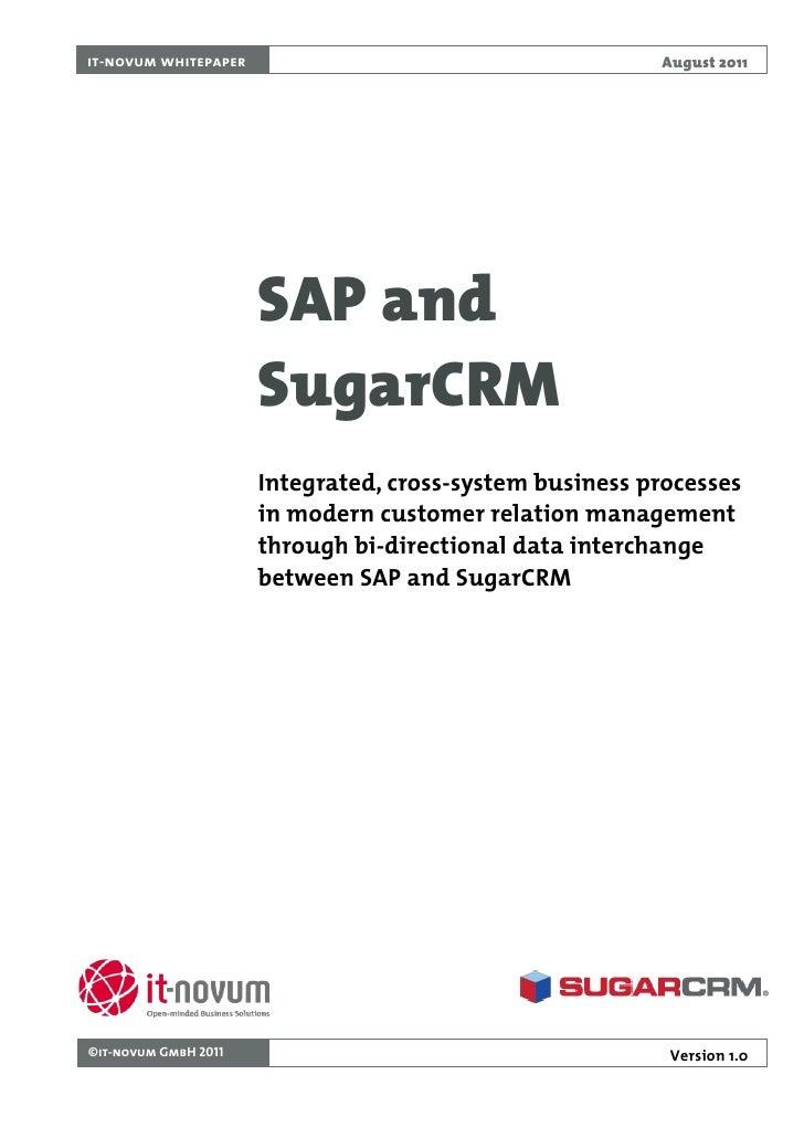 it-novum whitepaper                                      August 2011                      SAP and                      Sug...