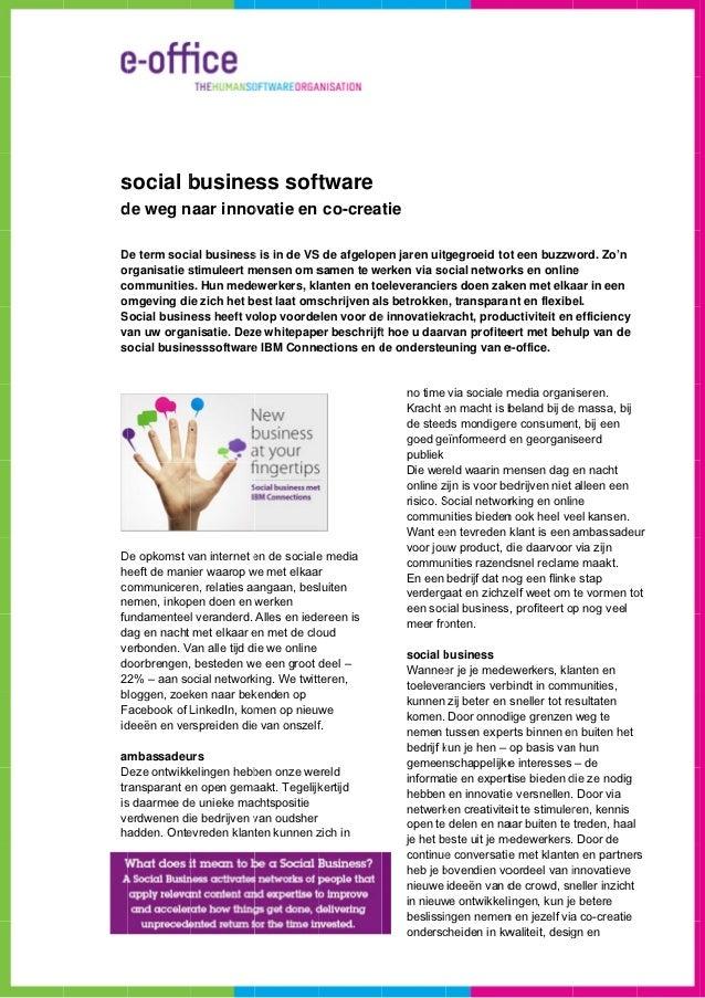 ssocial b       busine soft            ess ftwared weg naar innode            ovatie en co-creatieD term soci business is ...