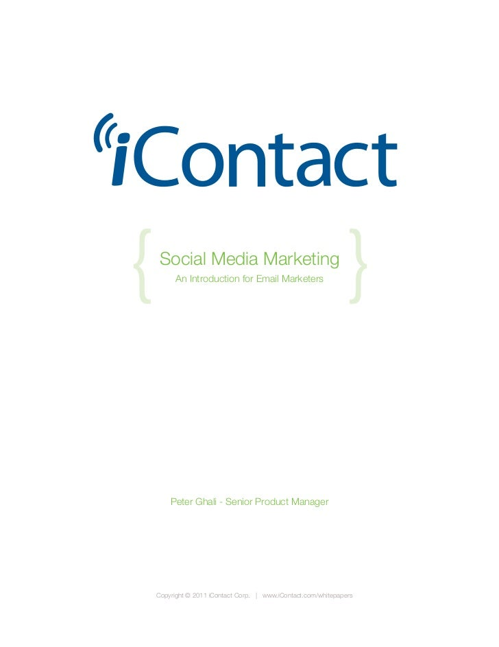 {    Social Media Marketing          An Introduction for Email Marketers                                                  ...