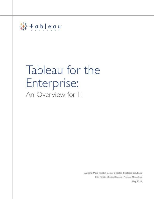 Whitepaper Tableau For The Enterprise 0