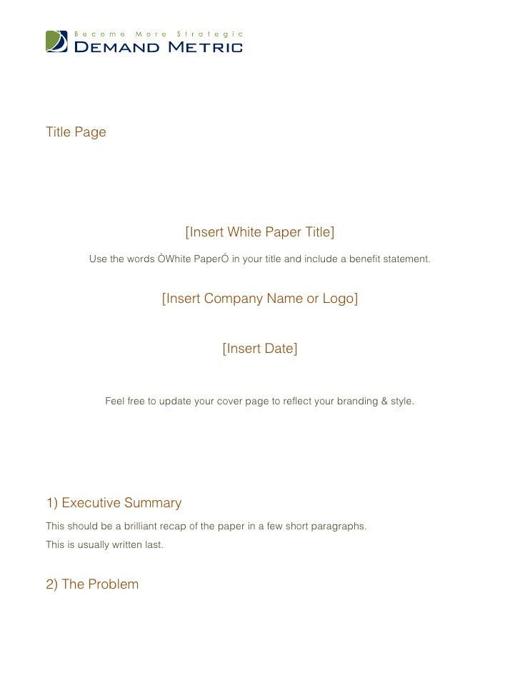 White paper template – White Paper Template Word