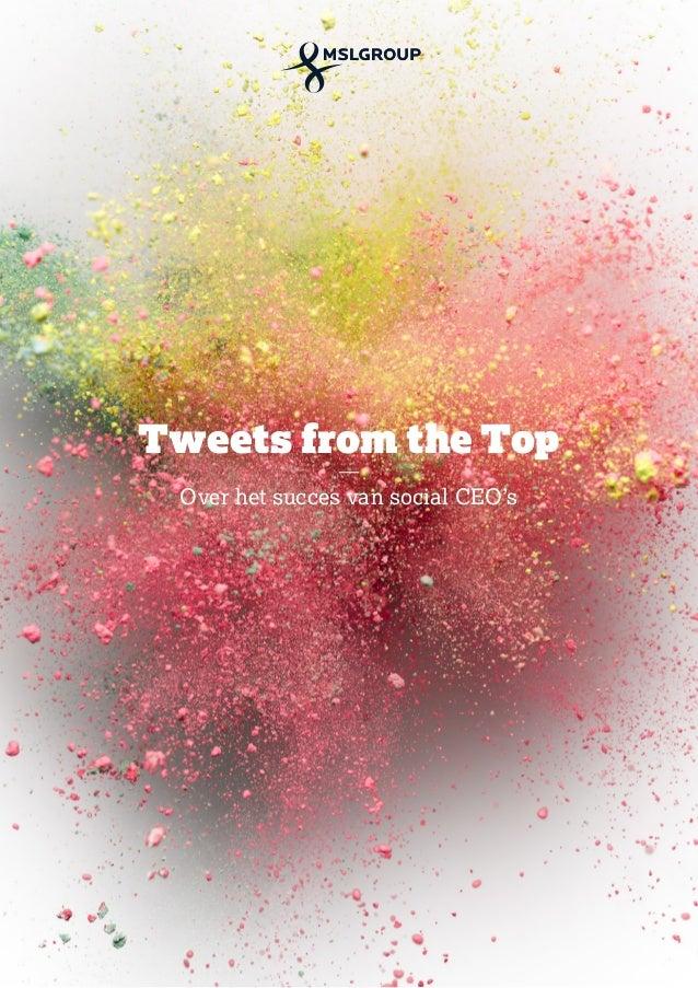 Tweets from the Top Over het succes van social CEO's