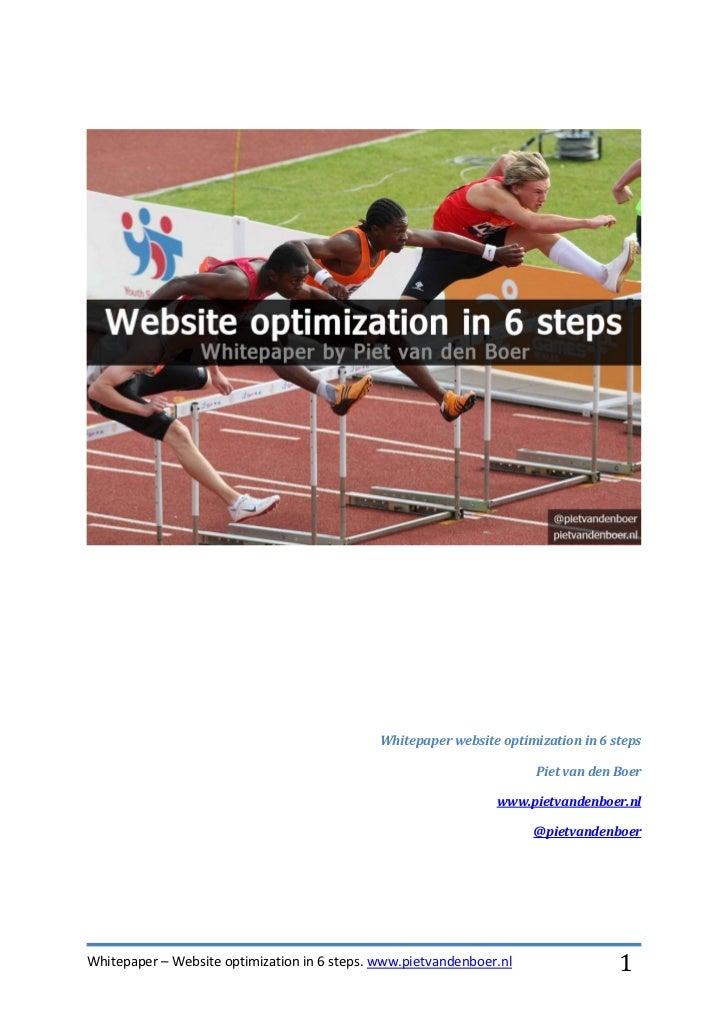 Whitepaper website optimization in 6 steps                                                                       Piet van ...