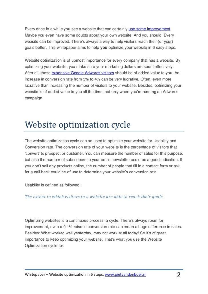 Whitepaper website optimization in 6 steps Slide 2