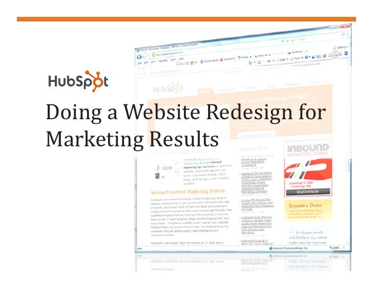 Doing a Website Redesign forMarketing Results