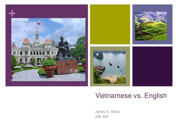 Vietnamese vs. English<br />Ashley E. White<br />ESL 502<br />