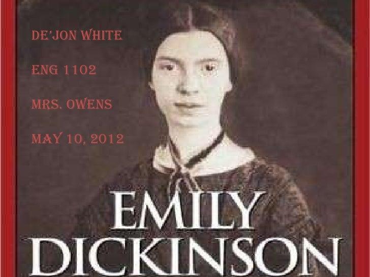 De'jon WhiteENG 1102Mrs. OwensMay 10, 2012