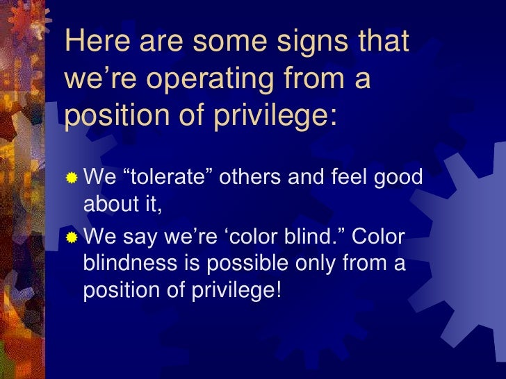 white privilege powerpoint