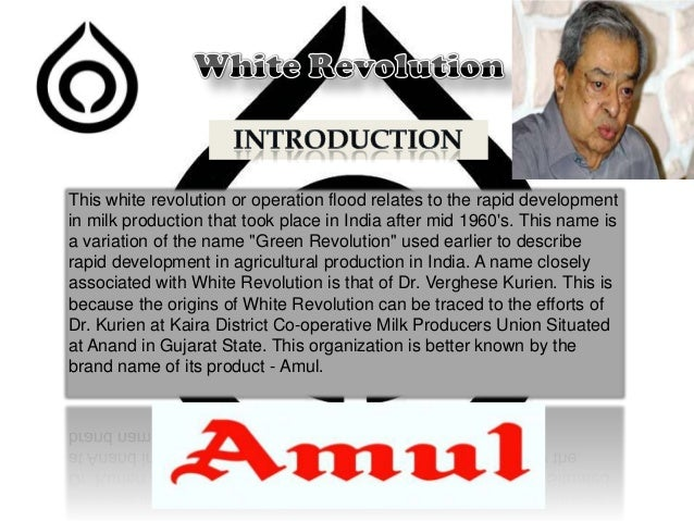 white revolution india essay 1203 words essay on green, white and blue revolution after 1965, the introduction of high-yielding varieties of seeds and the increased use of fertilizers and irrigation made india self-sufficient in food grains.