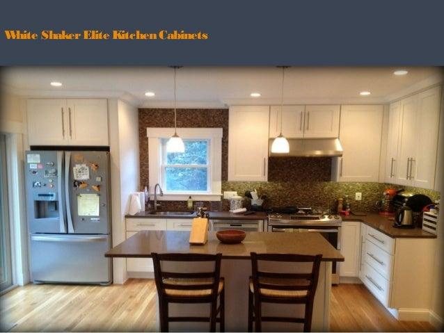 White ShakerElite Kitchen Cabinets ...